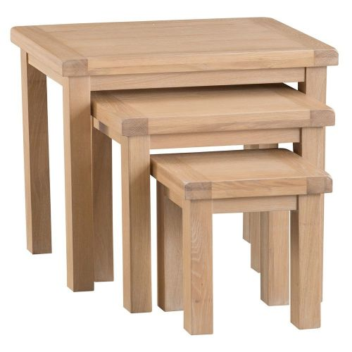 Oakham Washed Nest of 3 Tables